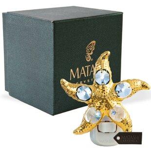Matashi Crystal 24K Gold Plated Crystal Studded Star Fish LED Night Light
