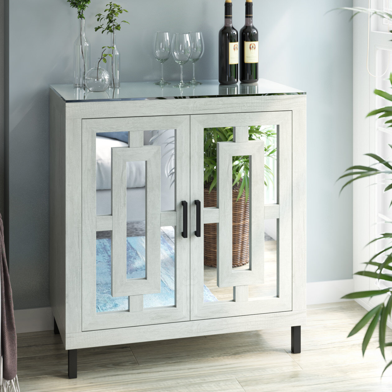 Whitmore Bar Cabinet With Wine Storage Reviews Joss Main
