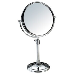 Purchase Round Double Sided Table Top Swivel Cosmetic Makeup Mirror ByAdeco Trading