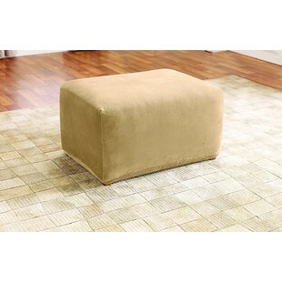 Stretch Pique Oversized Ottoman Slipcover By Sure Fit