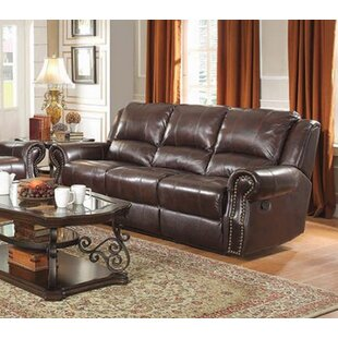 Algona Leather Reclining Sofa
