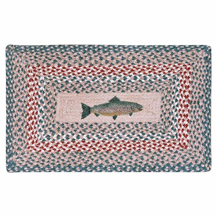 EarthRugs Fish Printed Area Rug, Size: Rectangle 18 x 26