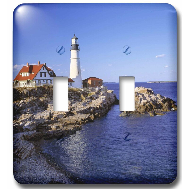 3drose Maine Portland Head Lighthouse 2 Gang Toggle Light Switch Wall Plate Wayfair