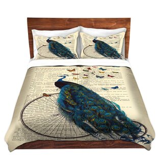 DiaNoche Designs Peacock Bicycle Butterflies Duvet Cover Set