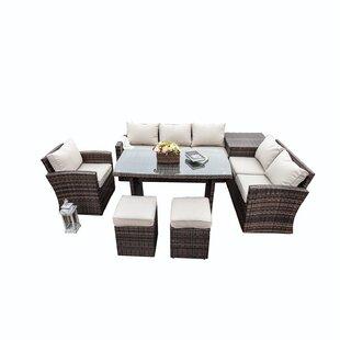 Rizwan 8 Seater Rattan Sofa Set Image