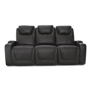 Leather Home Theater Sofa by Latitude Run