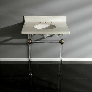 Online Reviews Templeton White Quartz Rectangular Undermount Bathroom Sink with Overflow ByKingston Brass