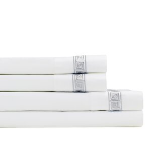 Cove Embroidered 600 Thread Count 100% Cotton Sheet Set