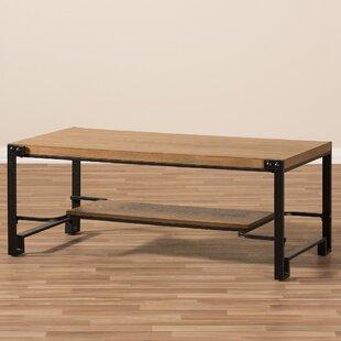 Mchaney Coffee Table with Magazine Rack b..