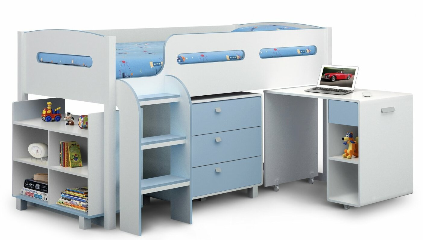 Oslo Single Mid Sleeper Bed With Storage