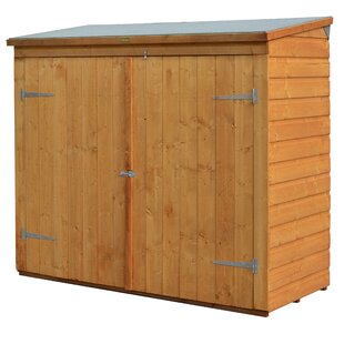 6 Ft. W X 2.5 Ft. D Wooden Horizontal Bike Shed By Rowlinson