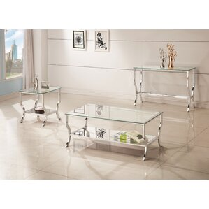 glass living room table set. Anndale 3 Piece Coffee Table Set Glass Sets You ll Love  Wayfair