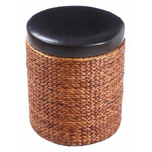Adeco Trading Storage Leather Ottoman