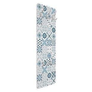 Review Geometric Tile Mix Wall Mounted Coat Rack
