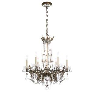 Schonbek chandeliers youll love wayfair florabella 6 light candle style chandelier by schonbek aloadofball Gallery
