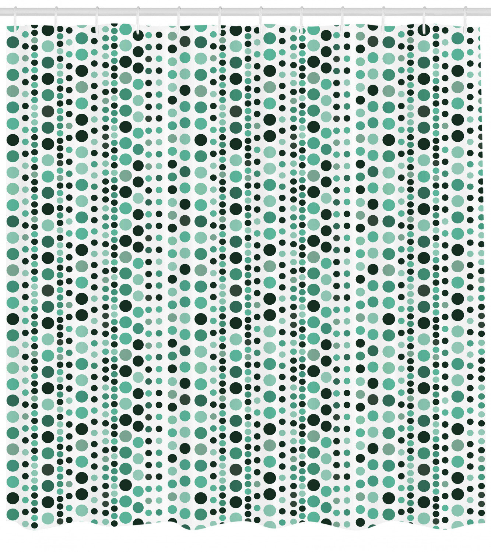 Ebern Designs Thelma Modern Retro 60s 70s Vintage Geometrical Circles Dots Points Ombre Image Single Shower Curtain Wayfair