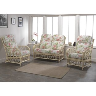 Read Reviews Desiree 3 Piece Conservatory Sofa Set