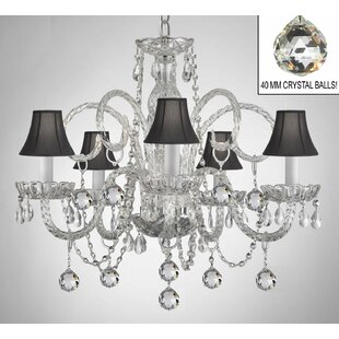 Kahl 5-Light Shaded Chandelier by House of Hampton