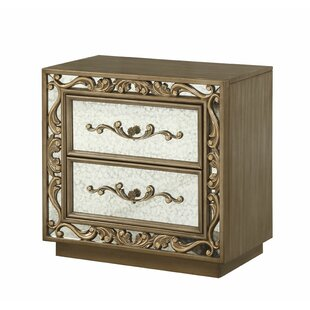 Hogan 2 Drawers Nightstand