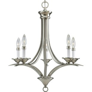 Inexpensive Roquefort 5-Light Chandelier By Charlton Home