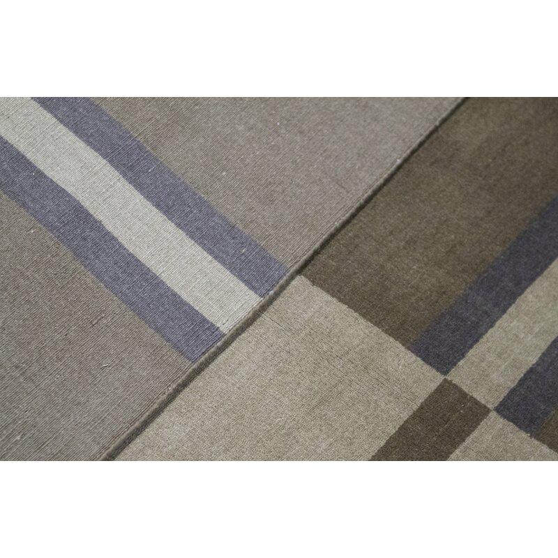 Bokara Rug Co Inc Gabbeh Geometric Hand Knotted Wool Brown Area Rug