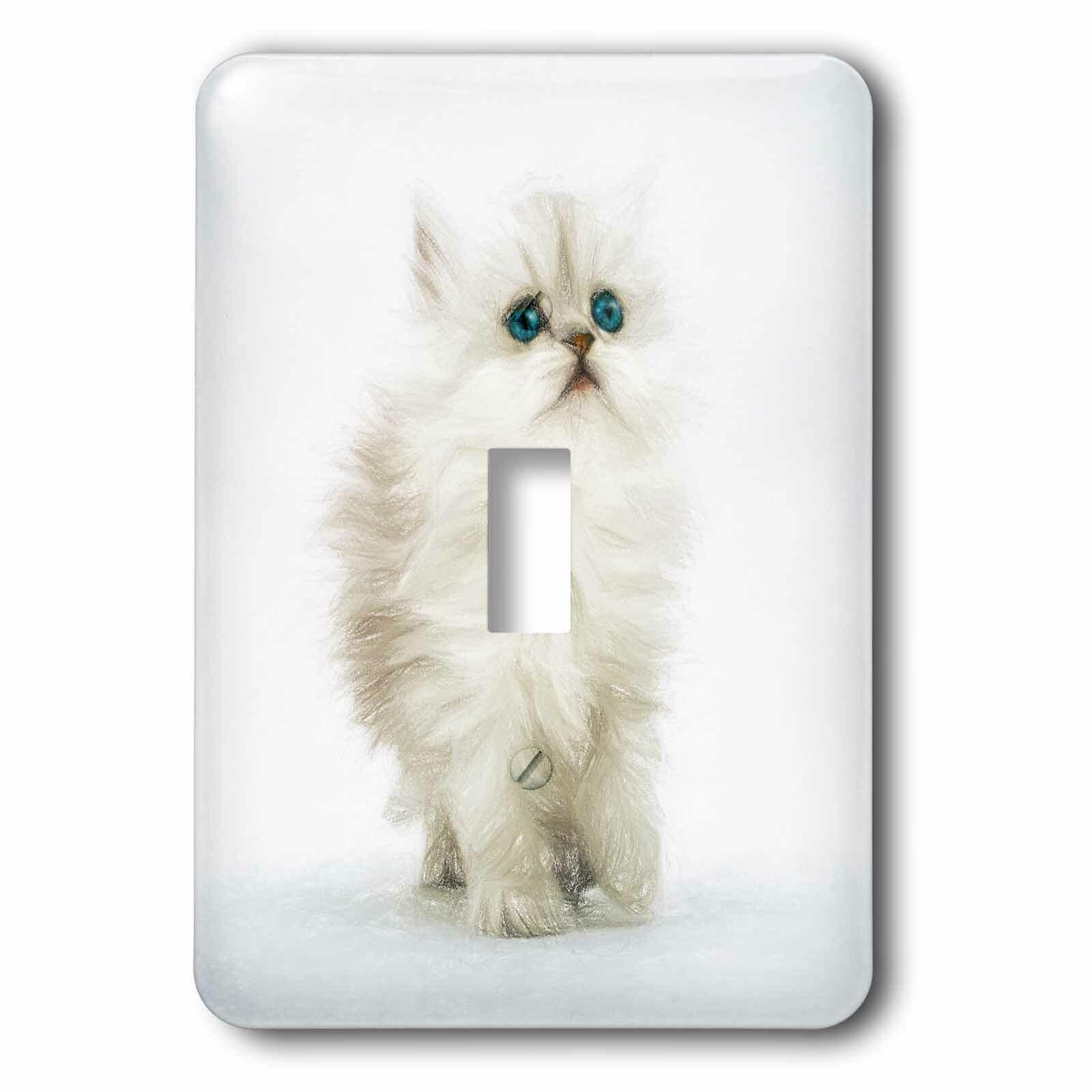 3drose Persian Kitten 1 Gang Toggle Light Switch Wall Plate Wayfair