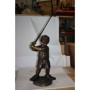 Maelys Golfer Boy Statue