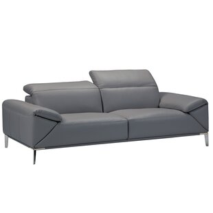 Moquin Leather Reclining Loveseat by Orren Ellis