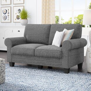 comfy overstuffed loveseat wayfair rh wayfair com Overstuffed Loveseat Sleeper Vintage Overstuffed Chairs