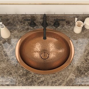 Find the perfect Roma Series Metal Oval Drop-In Bathroom Sink By ANZZI