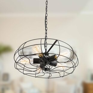 5-Light Geometric Chandelier b..