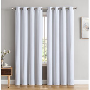 Marin Textured Under Energy Efficient Solid Color Max Blackout Thermal Grommet Curtain Panels (Set of 2) by Winston Porter