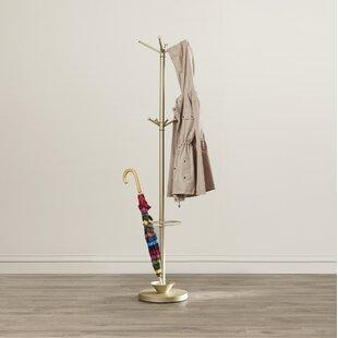 Orren Ellis Darren Metal Coat Rack with Umbrella Stand