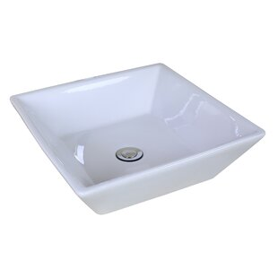 Read Reviews Ceramic Square Vessel Bathroom Sink By American Imaginations
