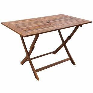 Averett Folding Wooden Dining Table Image