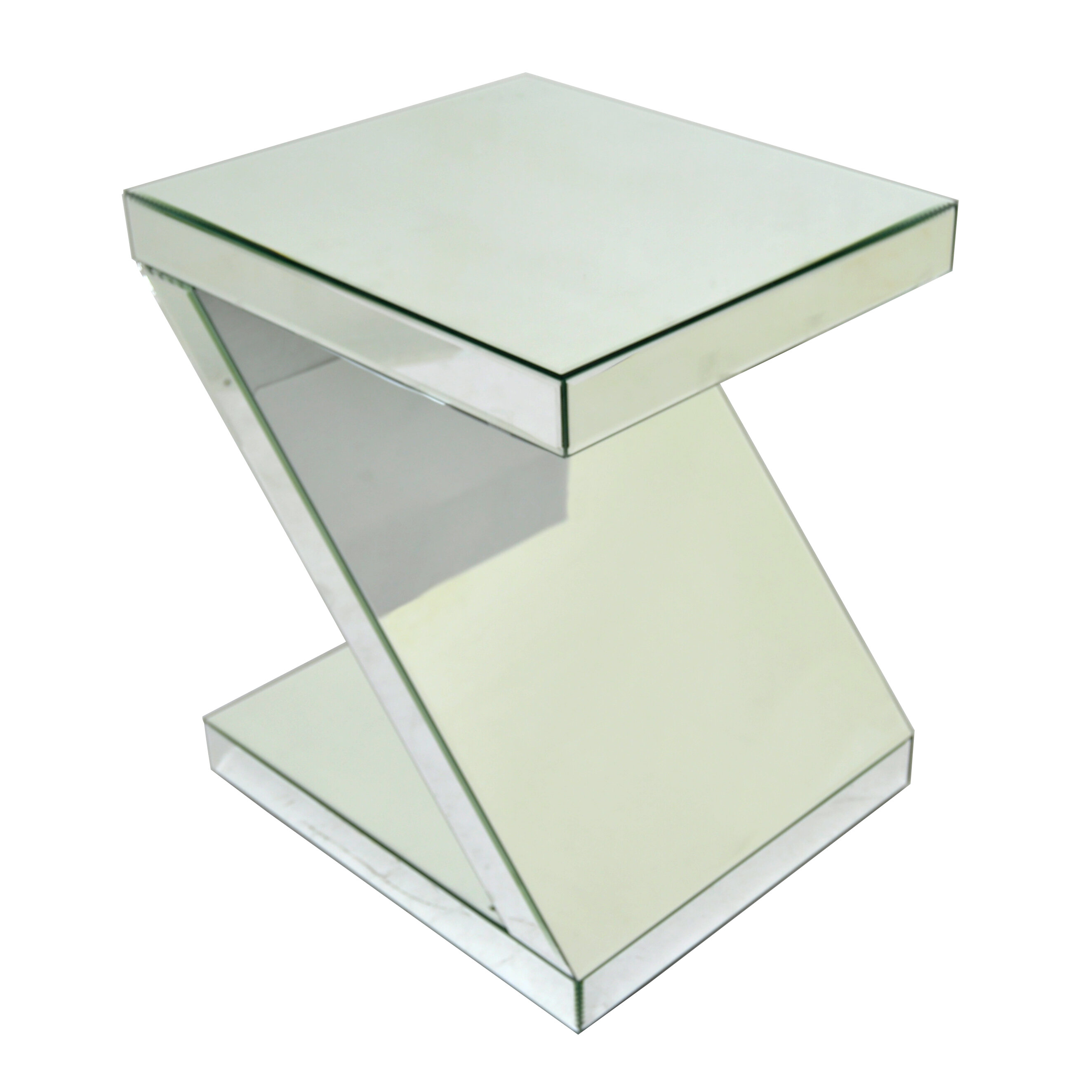 Mirrored end table wayfair