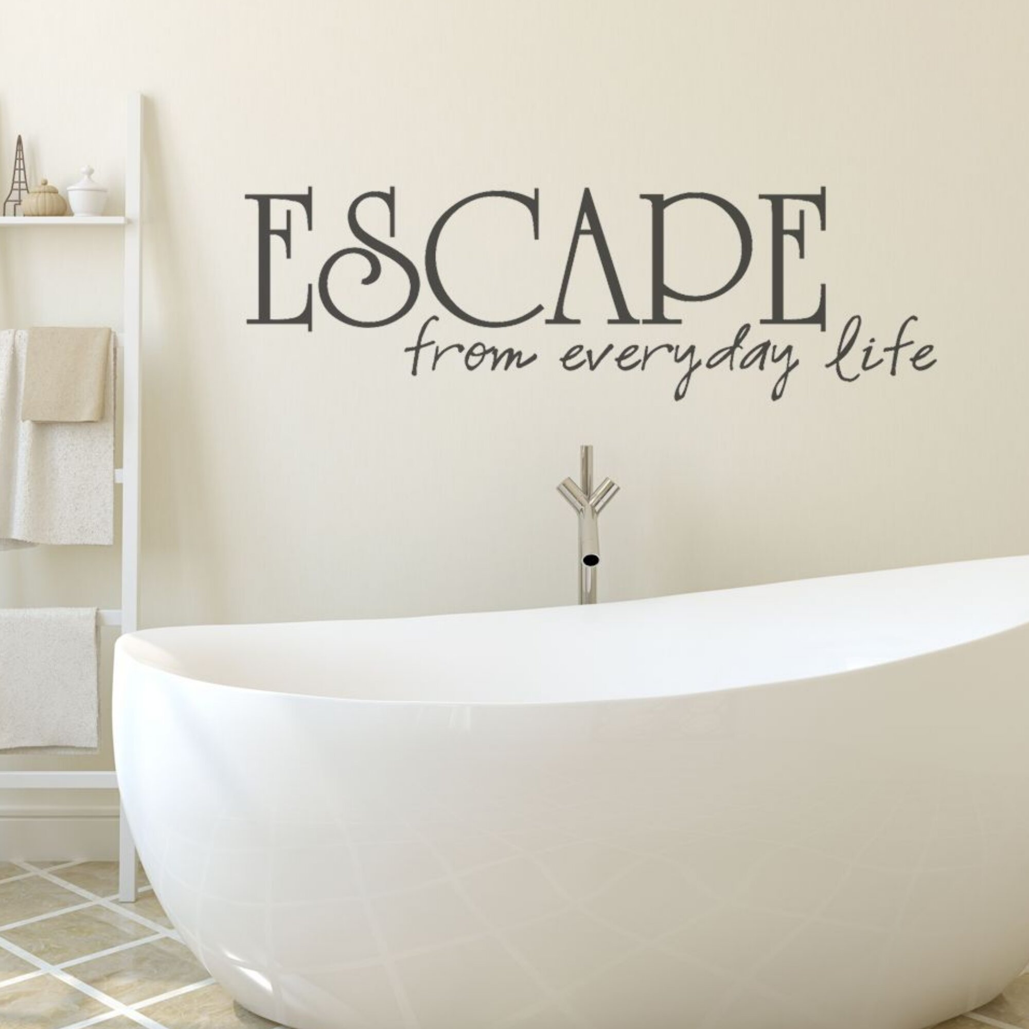 ESCAPE from everyday Vinyl Home Wall Decal Decor