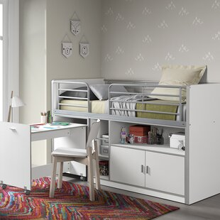 Bourgeois European Single Mid Sleeper Bed With Desk By Isabelle & Max