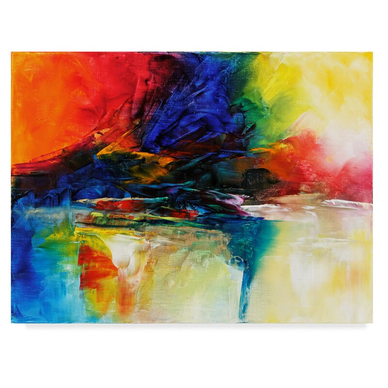 Trademark Art By The Stream Acrylic Painting Print On Wrapped Canvas Wayfair