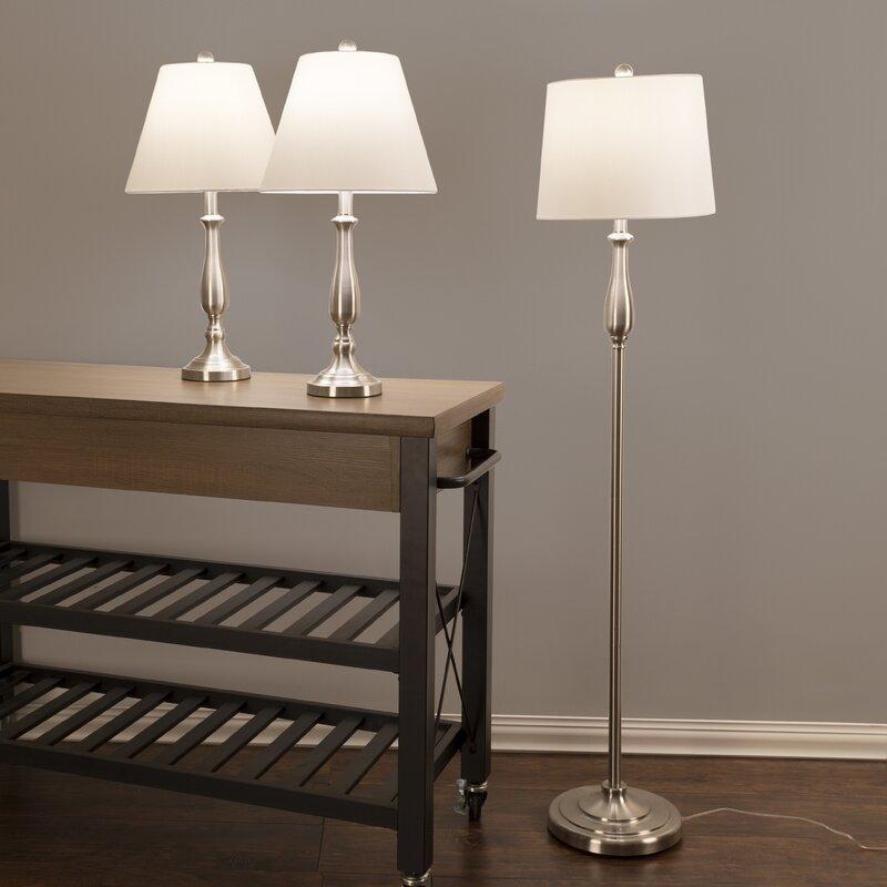 Lavish Home Floor And Table Lamp Set
