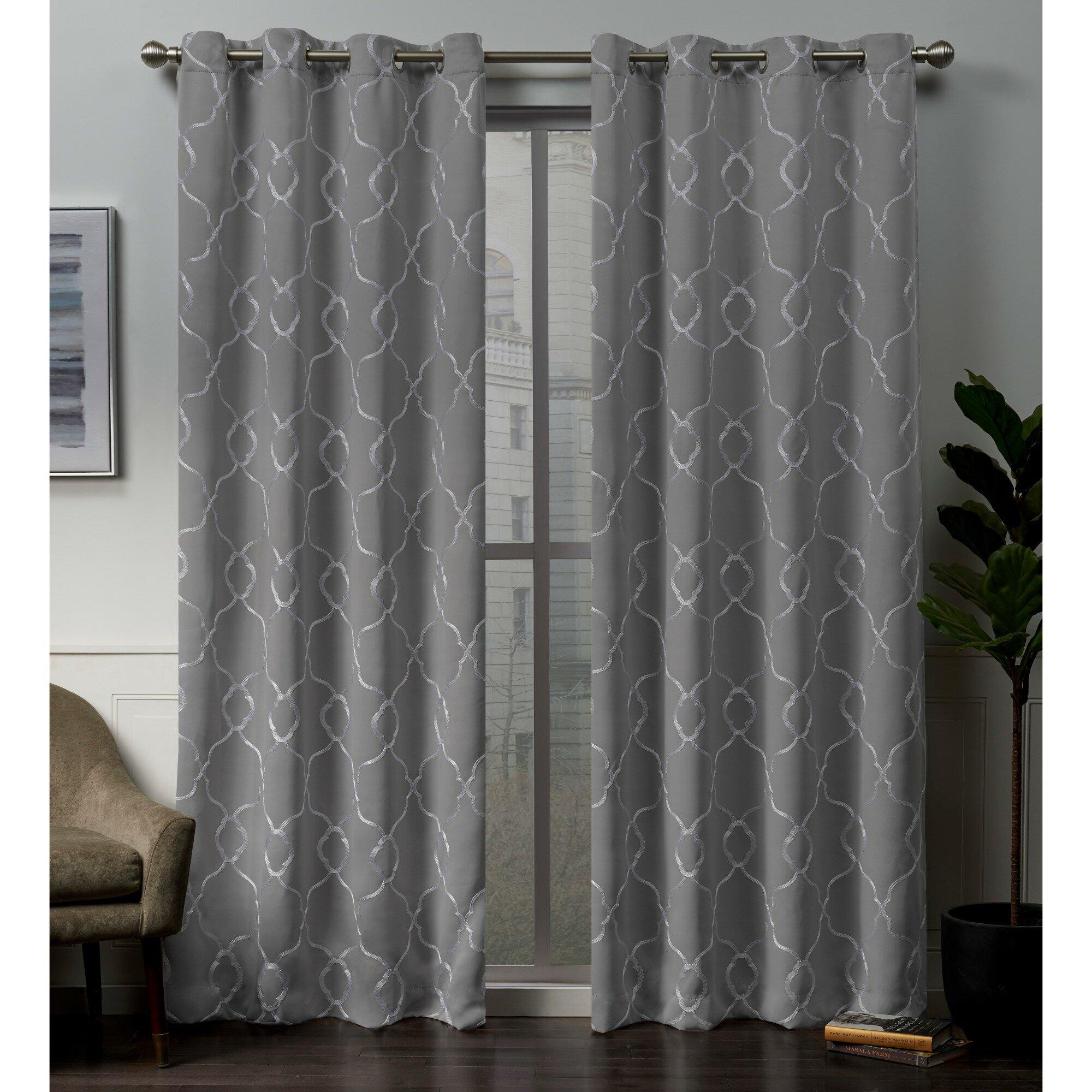 Darby Home Co Belew Geometric Blackout Thermal Grommet Curtain Panels Reviews Wayfair
