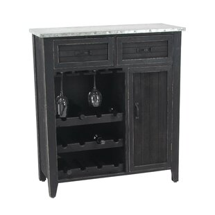 Williston Forge Ramon Traditional 12-Bottle Bar Cabinet with Suspended Rack