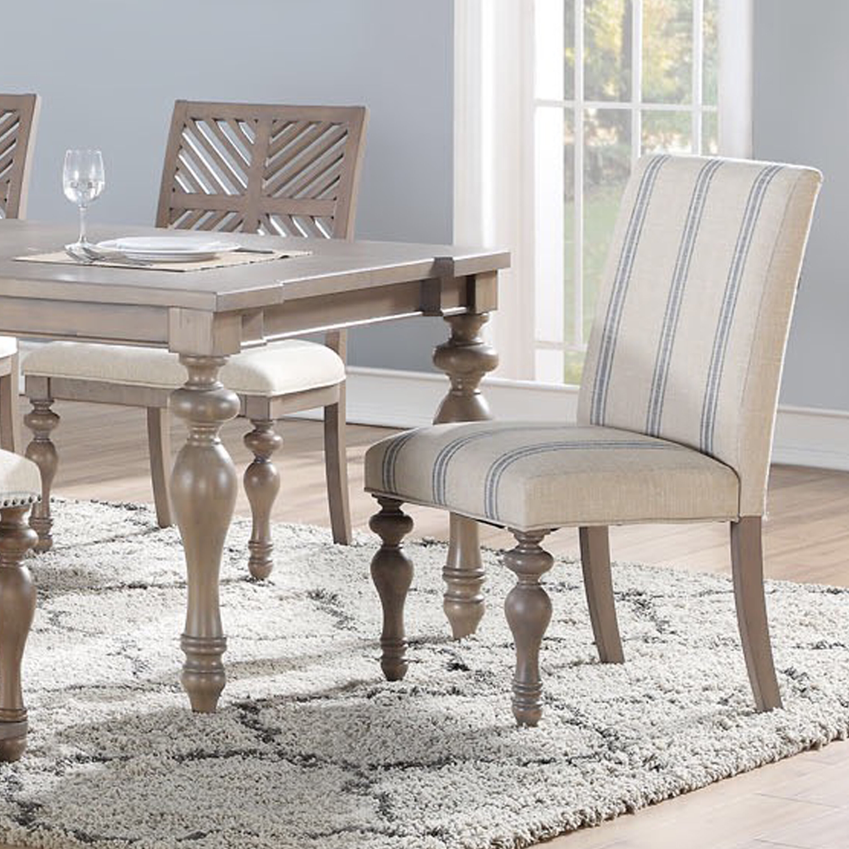 One Allium Way Donavan Beach Stripe Upholstered Dining Chair Reviews Wayfair