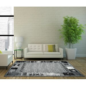 Tinsley Dark Gray Area Rug