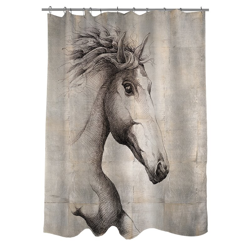 "Rural Life Farm Animals Horse Cow Rooster Shower Curtain Set Bathroom Decor 72/"""