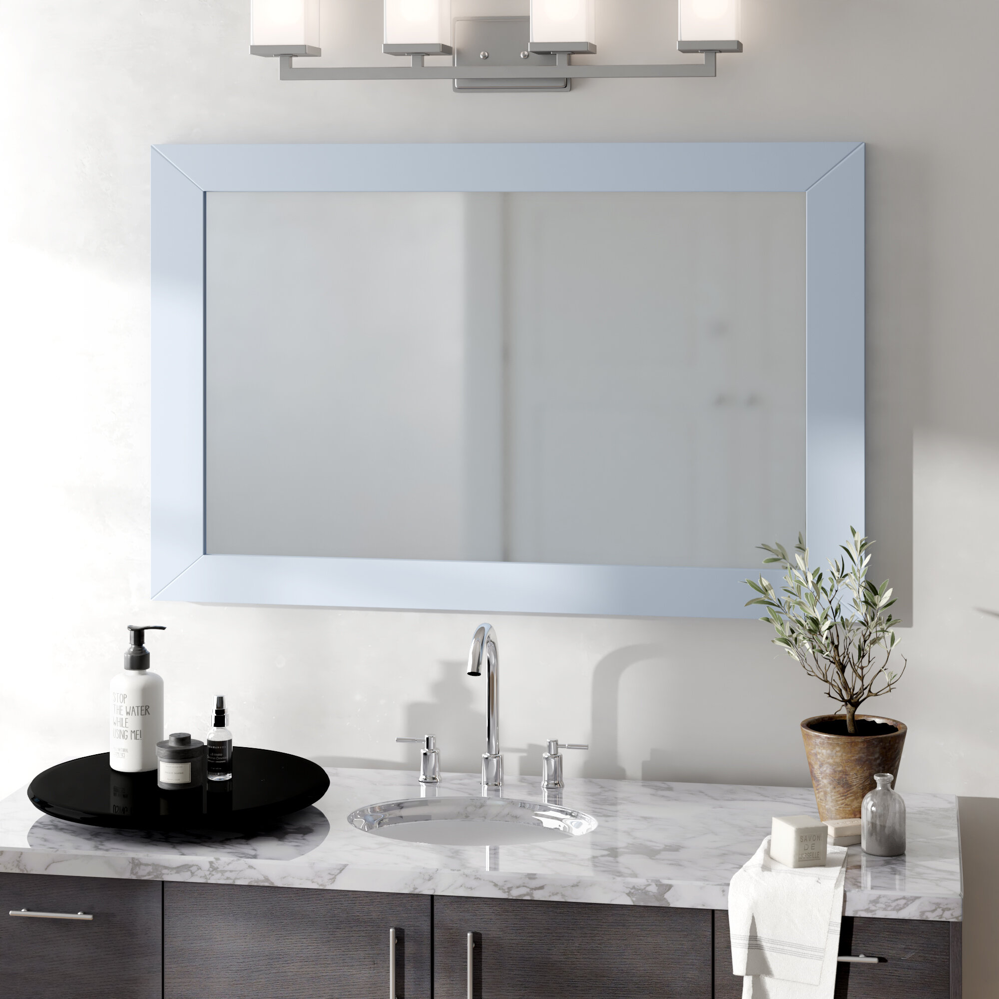 Brayden Studio Piccirillo Rectangle Framed Bathroom Wall Mirror Reviews Wayfair