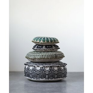 Karns Round Cotton Pouf by Bungalow Rose