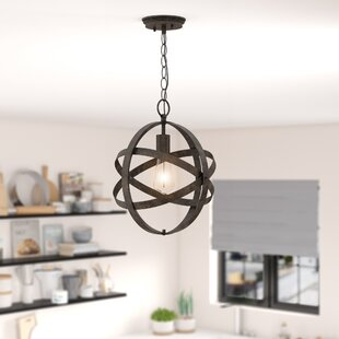 Katie 1-Light Globe Pendant by Wrought Studio