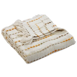 Wesham Mustard Cotton Throw
