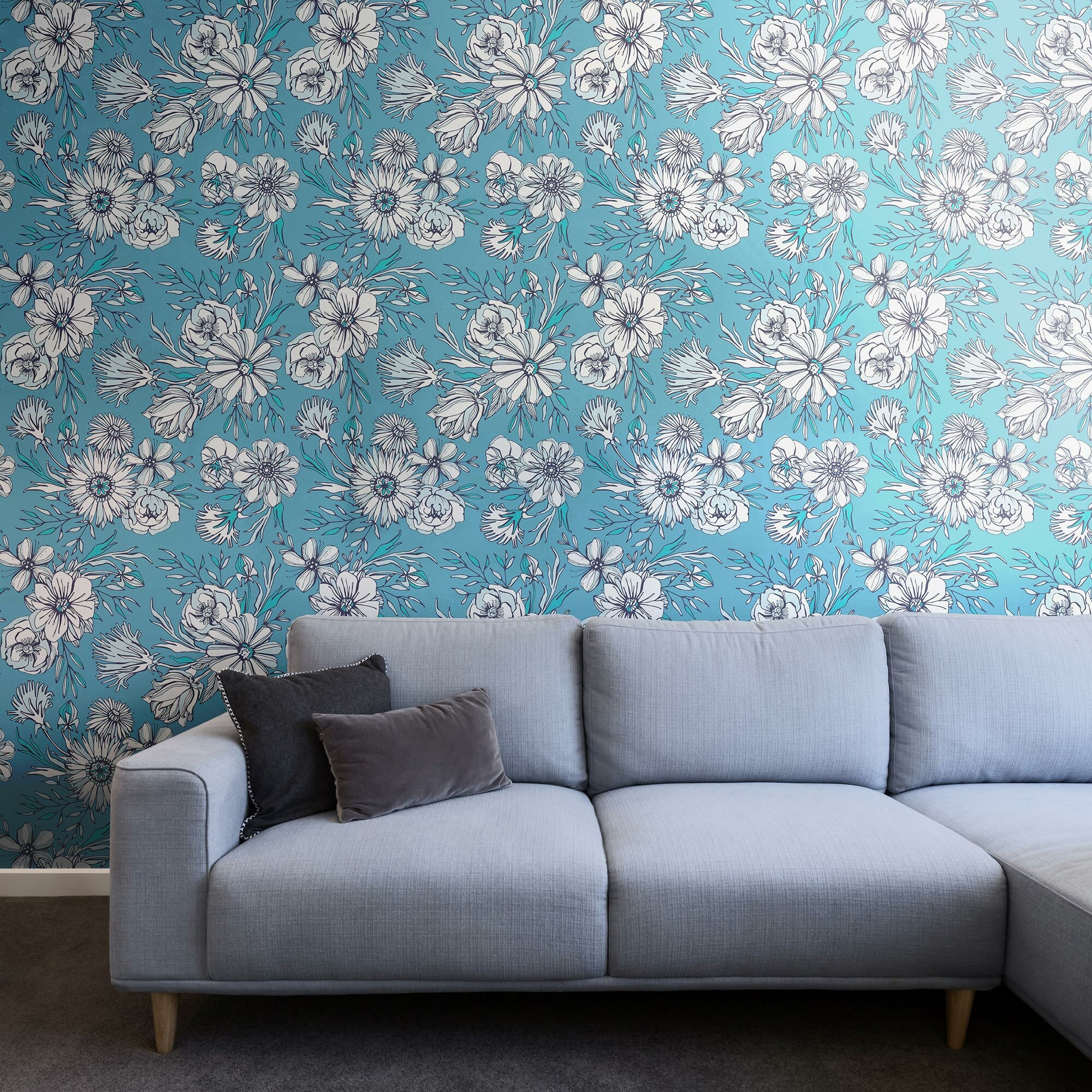 Watercolor Stripe Repositionable and Removable Peel and Stick Wallpaper